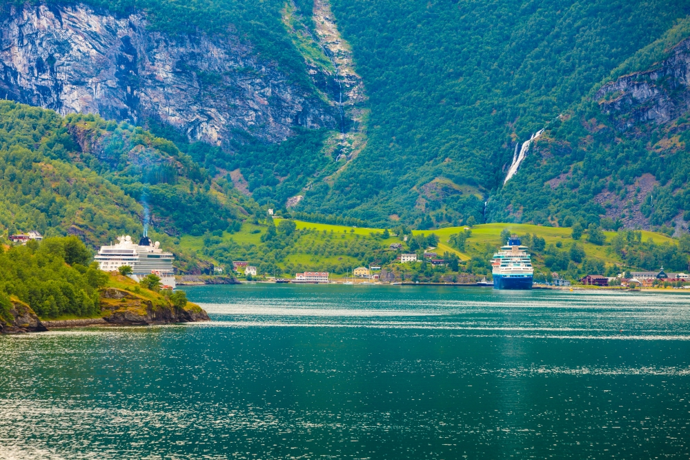 bigstock-Cruise-Ship-On-Fjord-Sognefjor-147107840