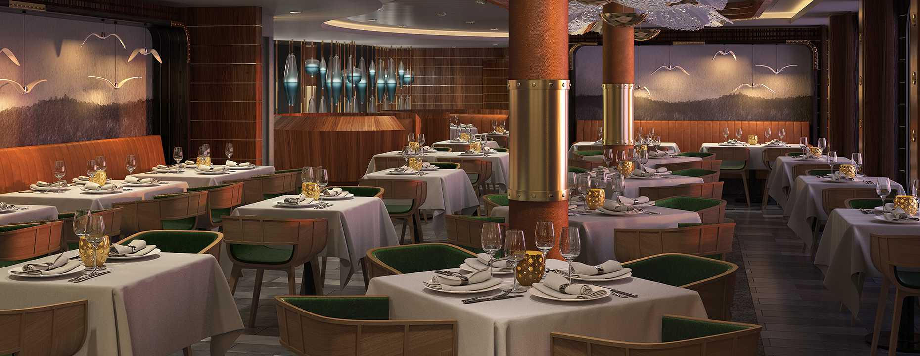 Restaurace na lodi Norwegian Bliss
