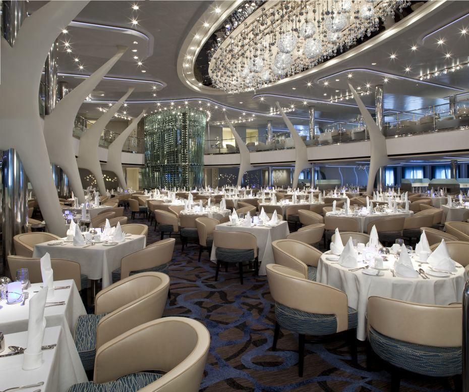 Celebrity Eclipse - Celebrity Cruises - prostřené stoly v Moonlight Sonata Restaurant