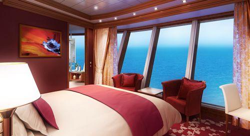 Norwegian Star - Norwegian Cruise Lines - luxuxsní Suite kajuta a výhled ven