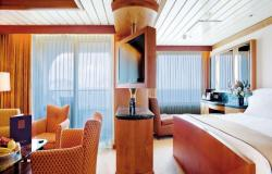 Voyager of the Seas - Royal Caribbean International - Grand Suite s balkonem a TV